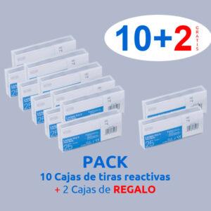 pack 10 + 2 cajas tiras reactivas