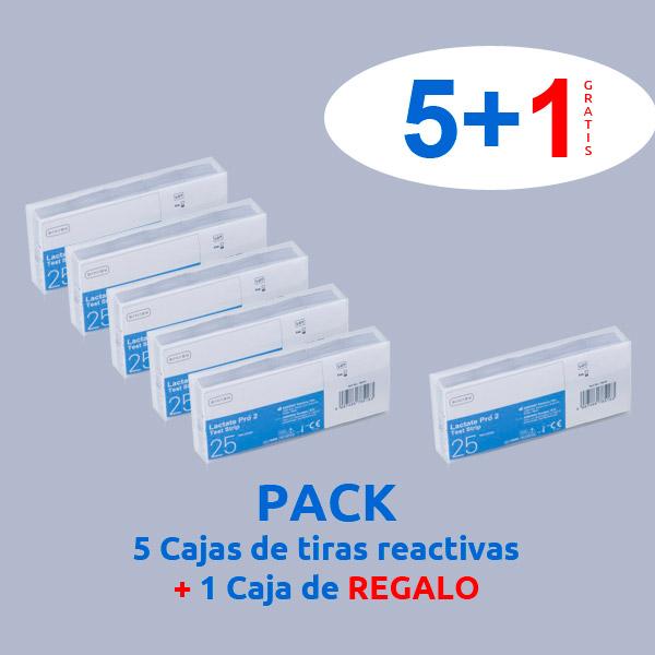 pack 5 + 1 caja tiras reactivas