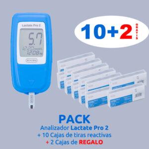 Pack analizador y 10 +2 cajas tiras reactivas