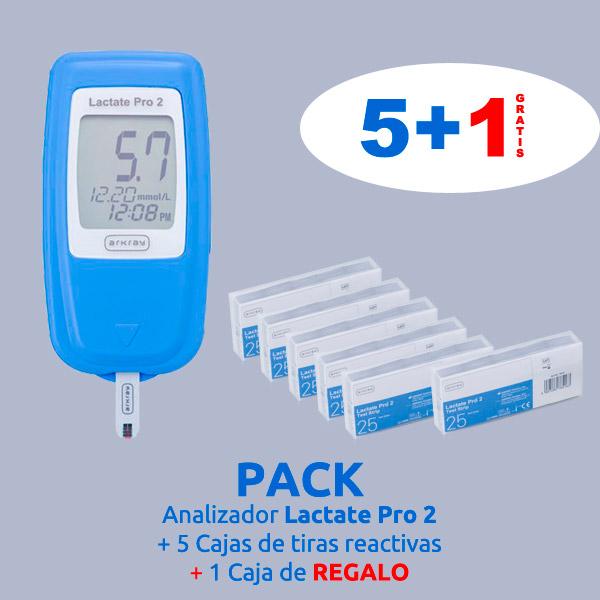 Pack analizador y 5 + 1 caja tiras reactivas